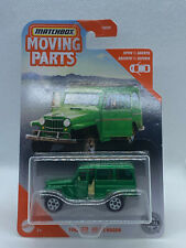 2021 Matchbox Moving Parts Green 1962 Jeep Willy's Wagon Opening Doors NIP