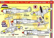 KORA Decals 1/32 NAKAJIMA Ki-44-II TOJO Manchukuo Air Force