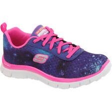 Scarpe scarpe da ginnastici blu marca Skechers per bambine dai 2 ai 16 anni