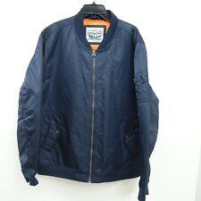 New Levi's Mens Nylon Navy Lyon Bomber Zip Up Winter Jacket Coat Size 2XL