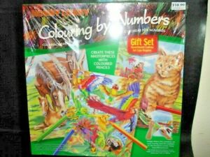 hobby lobby color By Numbers Kits DIY Number  Animals 7950010 new never opened