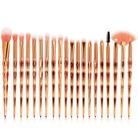 20PC Pro Unicorn Glitter Makeup Brushes Set Powder Foundation Cosmetic Brush Kit
