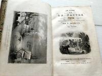 1847 LIVRE DE LA NATURE PLANTES HISTOIRE NATURELLE PHYSIQU CHIMIE GRAVURES LIVRE