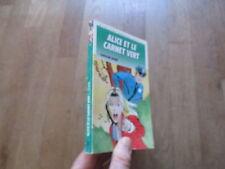 BIBLIOTHEQUE VERTE ALICE et le carnet vert  caroline quine 1990 07
