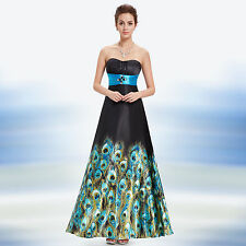 Ever Pretty Floral Printed Strapless Rhinestones Satin Ruffles Prom Dress 09622