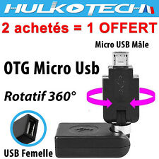 Cable Adaptateur Micro Usb OTG - Rotatatif - pour HTC One M7 /One mini M4 /One S