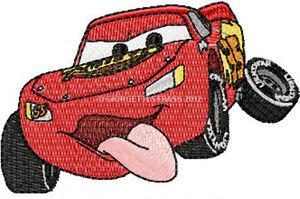 Disegno per macchine da Ricamo Disney Saetta Mcquenn Cars mc queen hus vp3 dst..