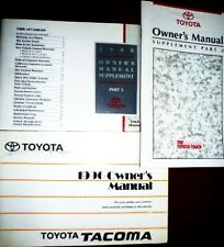 1993 TOYOTA TRUCK OWNER'S MANUAL+SUPPLEMENT +GUIDE