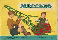Catalogue Meccano 1956 Boite N°2