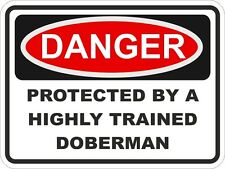 1x Danger Protected By Doberman Warning Funny Sticker Dog Pet Aufkleber pegatina