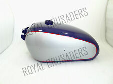 NEW BSA GOLDEN FLASH A10 PLUNGER MODEL BLUE AND GREY PAINTED PETROL TANK (CODE23