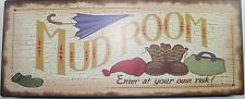 Iron Tin Metal Sign Home Mom Kitchen Decor Mud Room enter at risk wall art 36884