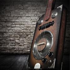**Delta Star DELUXE 3 String Tobacco Sunburst Resonator Cigar Box Guitar!
