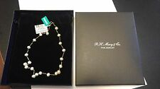 NWT EFFY 14K Yellow Gold Pearl Station Necklace $425.00