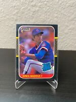 1987 Donruss Rated Rookie Greg Maddux #36, Chicago Cubs, Atlanta Braves, HOF