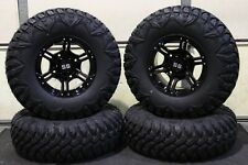 "POLARIS ACE 570 30"" STREET LEGAL QBT ATV TIRE 14"" VIPER BLK WHEEL KIT POL3CA"