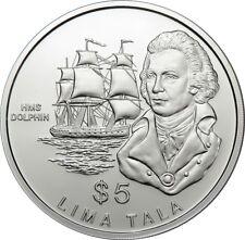 5 dollaro 1989-Tokelau-nave di Dolphin - 925 ERAG/31,47g
