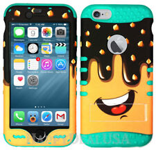 For Apple iPhone 6 & 6S - KoolKase Hybrid Silicone Cover Case Chocolate Cake 62