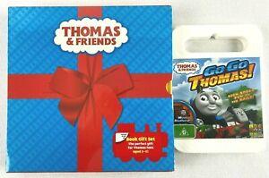 THOMAS The Tank Engine & Friends Gift Box Book Set + Go Go Thomas DVD NEW/SEALED