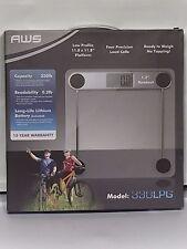 New AWS Bathroom Weight Scale Model 330LPG 330 lbs Capacity 0.2 lb Readability