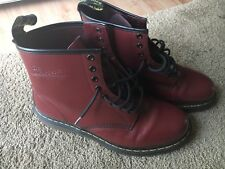 Doc Dr. Martens Dark Cherry Red Boots US Men's Size 12
