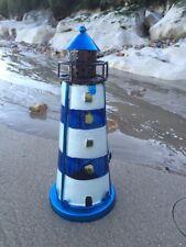 Dipinto A Mano Vetro Faro Portacandele Tea Light Nautico Spiaggia Arredo Casa