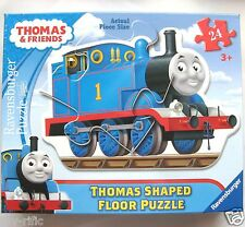 RAVENSBURGER THOMAS THE TANK ENGINE SHAPED 24 PC GIANT FLOOR PUZZLE  - BRAND NEW