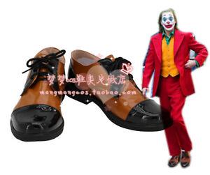 2019 Joker Arthur Fleck Shoes Joaquin Phoenix Leather Cosplay Shoes Boots Custom