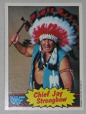 Chief Jay Strongbow WWF 1985 Topps Card 20 WWE Pro Wrestling Hall of Fame Legend