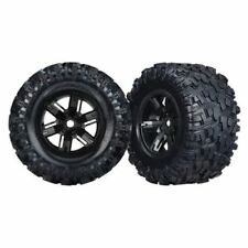 Traxxas 7772X X-Maxx 8S-Rated Maxx AT Tires Pre-Mounted on Black Wheels (2)