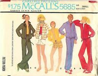 Vintage 1977 McCall's 5685 Sewing Pattern: His And Her's Jacket Pants Size Small