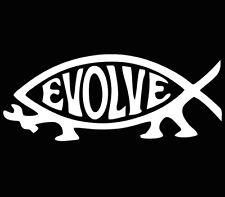 Evolve Fish Evolution atheist Jesus Darwin Sticker decal window car laptop