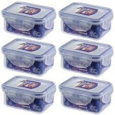 6 X LOCK AND & LOCK PLASTIC FOOD STORAGE CONTAINER 180ML HPL805