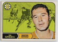 1968-69 Topps #4 Ted Green EX-NM SET BREAK (112219-21)