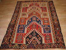 Antique Turkish Konya Region Sivrihisar Prayer Kilim, Beautiful Design, c1900