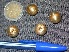 2 boules laiton Ø14 mm raccord fin de lustre lampe horloge appliques guariche