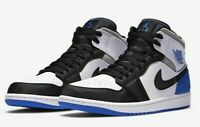 "Nike Air Jordan 1 Mid SE ""Game Royal Black Toe"" Sz 10.5 852542-102 HYPER ROYAL"