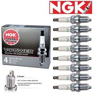8 pcs NGK V-Power Spark Plugs 2002-2007 Dodge Ram 1500 4.7L V8 Kit Set Tune