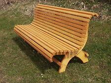 Gartenbank Holz Fichte Kiefer Miv Ca2 0m Lang Fertig Lasiert Handarbeit