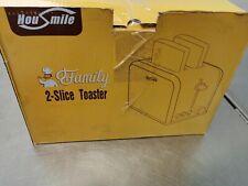 Edelstahl Toaster - 900W 2 Slots mit 6 Bräunungsstufen Multifunktion für Toaster