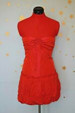 80s vintage bright  red  /pink tonic puffball dress prom