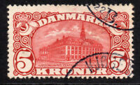 Denmark 5 Kroner Post Office Stamp c1912 Fine Used (4593)