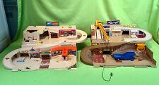 Vintage Hot Wheels Mattel Sto & Go SERVICE CENTER & CONSTRUCTION SITE Playset