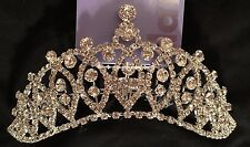 Quincianera SWEET 16 SILVER Crystal RHINESTONE HAIR COMB TIARA CROWN
