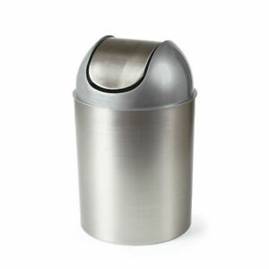 Umbra Mezzo Swing-Top Waste 3PC Trash Can 2.5-Gallon (9 L) BRUSHED NICKEL/SILVER
