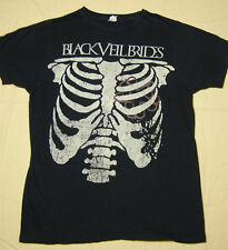 Black Veil Brides Concert Tour T-Shirt Rib Cage Heart Logo black size M