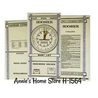 Door Cards - Hoosier - Sellers cabinet info antique vintage Kitchen Cabinet Card