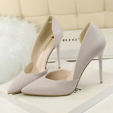 Women Pumps Sandals Pointed Toe Leather Stilettos High Heels Party Ladies Shoes