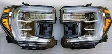 NEW LED 19-20 GMC SIERRA DENALI HEAD LIGHTS LAMPS LEFT RIGHT DRIVER PASSENGER