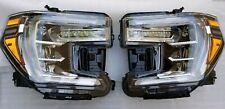 2019-2020 SIERRA DENALI HEADLIGHTS LAMPS FULL LED LEFT RIGHT DRIVER PASSENGER